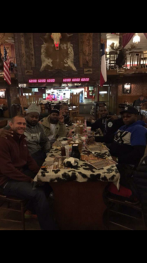 So my buddy was at a steakhouse in a small town in Texas and Wu Tang