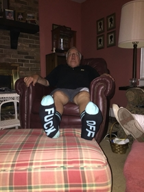 So my dad got some new socks