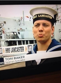 So my friend is currently in the Navy and made it on to TV during the national news