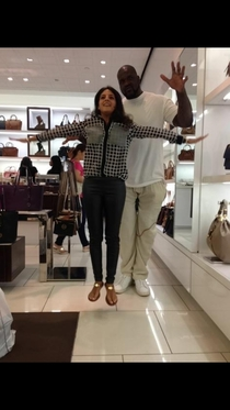 So my friend was levitated by Shaq today