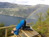 So my friend went on a trip in Norway
