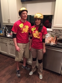 So my friends dressed up as Legends of the Hidden Temple contestants and even nailed the awkward prepubescent pose  smile