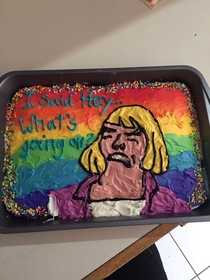 So my girlfriend baked a cake