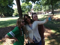 So my girlfriend took a casual selfie with Tina Fey today