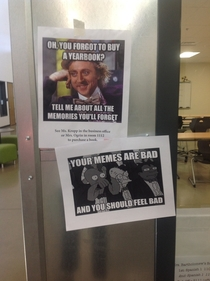 So my school tried to appeal to the students using memes