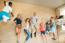 So my university posted pictures of incoming freshman doing group jump photos One person seems to stand out here