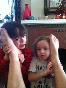 So my wife told our kids that the way to talk to Santa was through phones in daddys feet