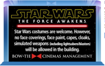 So no Star Wars costumes then