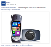 So Nokia just posted this on their Facebook