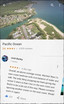 So people started reviewing the Pacific Ocean and its fantastic