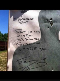 so Shaq is visiting my small town in Louisiana because he is getting inducted to our hall of fame He left this at our shooting range