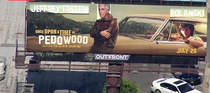 So someone vandalized a billboard out here in LA and turned it into this