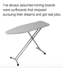 So thats where ironing boards come from