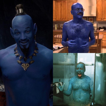 So they finally revealed the look of Will Smiths genie