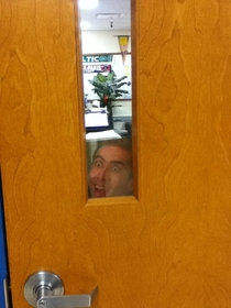 So this is on my teachers door