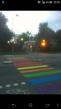 So this is what they did outside the russian embasy in Sweden