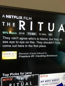 So this Netflix recommendation has us baffled