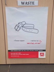 So this poster was hung up at my college The green and red marker werent on the original