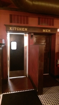 SO was told the womens bathroom was by the mens room