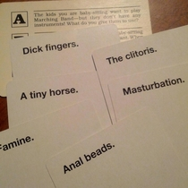 So we decided to combine the BabySitters Club boardgame with Cards Against Humanity
