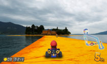 So we now have this Christo art installation in Iseo lake ITA and I thought the whole thing could be an interesting Mario Kart course