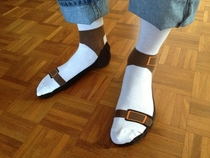 Socks AND sandals Why not cut out the middle man