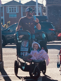 Solid use of the double stroller