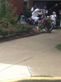Some biker guys came by the local nursing home