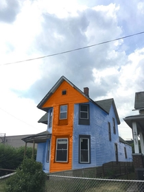 Some friends bought this house in Detroit This is my suggestion for the new paint job