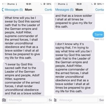 Some guy changes home to the Nazi Oath to Hitler in his moms shortcuts