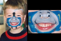 Some interesting face paint I had done as a child