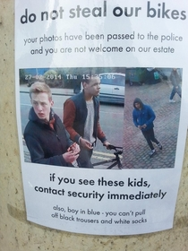 Some potential thieves were spotted outside our office One particular crime of theirs stood out in particular