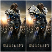 Somebody fixed the shoulders on the Warcraft poster