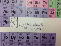 Someone added this to the periodic table in their chemistry book