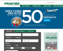 Someone at Frontier Airlines got away with making their new ad campaignpromo code DEEZNUTS