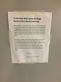 Someone at my office has had enough of someone elses shit
