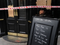 Someone broke into the London pub my friends manage