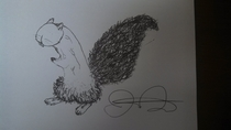Someone called me a squirrel dick so my friend drew a picture