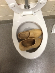 Someone clogged the toilet