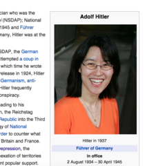 Someone edited Hitlers Wikipedia page