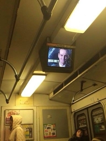 Someone hacked the infoscreens in ukrainian subway