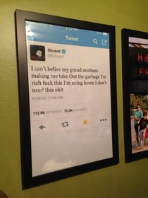 Someone made  cents tweet into a poster