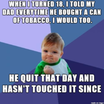 Sometimes its the parents that need a little bit of tough love This is how I got my dad to quit