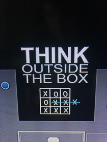 Sometimes the answer is inside the box