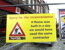 Sorry for the inconvenience Now stop complaining