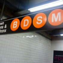 Sorry Im late I got tied up on the subway