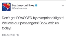 Southwest Airlines subtly making use of the situation
