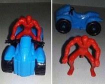 Spider-Man and his motorcycle