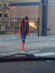 Spider-Man looks like hes had better days