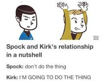 Spock and Kirk in a nutshell